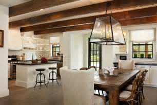 Surprising farmhouse dining table decorating ideas images in kitchen