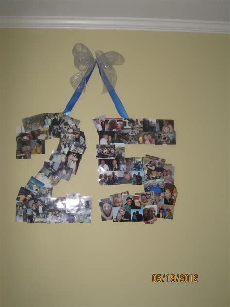 Wedding Anniversary Celebration Ideas For Parents by A Collage Of Pictures In The Shape Of The Number Quot 25 Quot For