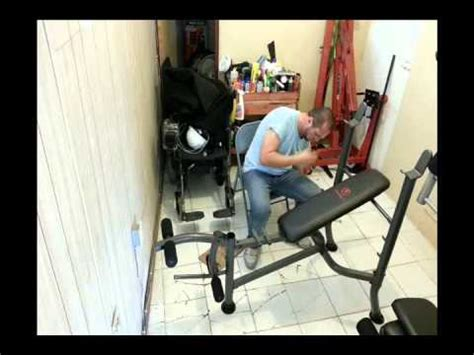 marcy weight bench assembly instructions assembly of a marcy strength bench youtube