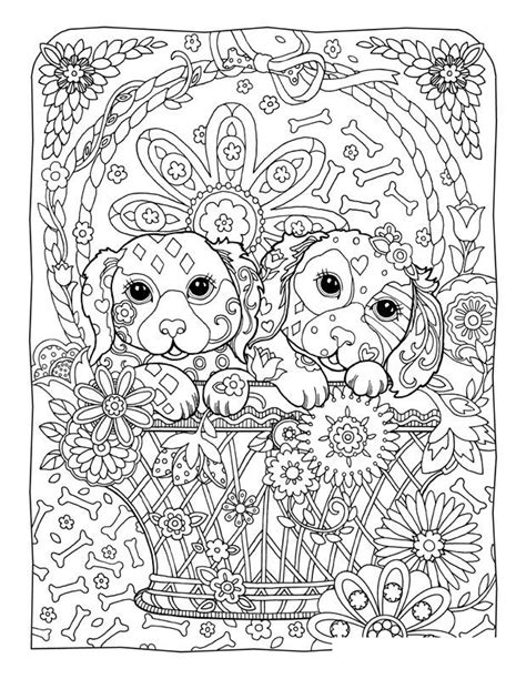 printable coloring pages for adults dogs – Learning Printable