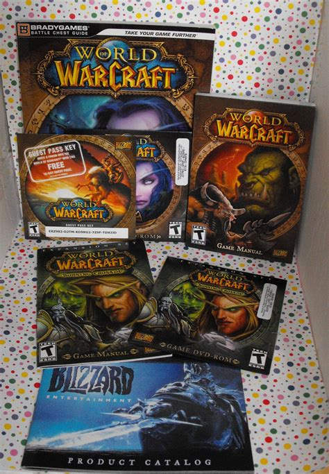 Pc Original World Of Warcraft Battle Chest 1 world of warcraft pc lot battle chest and burning