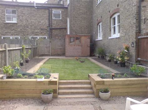 craig higgin s garden transformation with railway sleepers