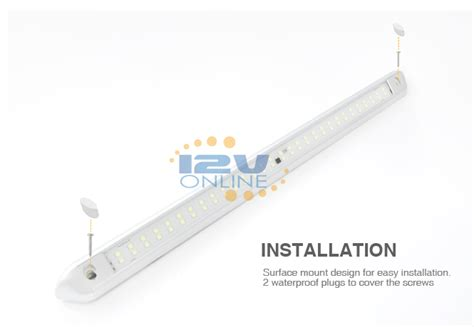 rv awning led light installation 21 65 waterproof led porch awning light cool white rv