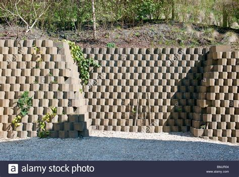 concrete blocks for garden walls neat concrete block retaining wall at bottom of hill side