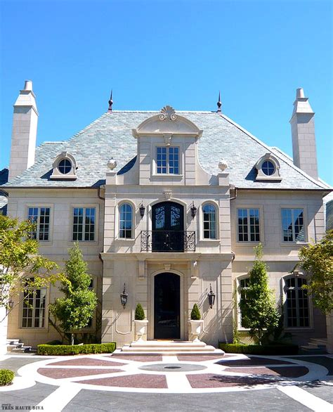 classic french chateau style exterior dream home pinterest