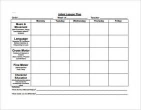 Nursery Lesson Plan Template by Lesson Plan Template For Preschool Best Template Idea