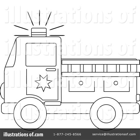 Firetruck Outline by Truck Outline Clipart Clipart Suggest