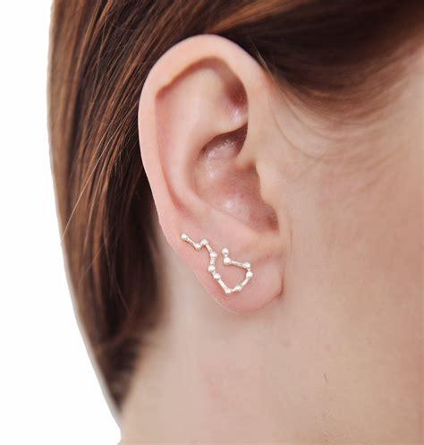 ear climber earrings sterling silver aquarius star ear climber earrings