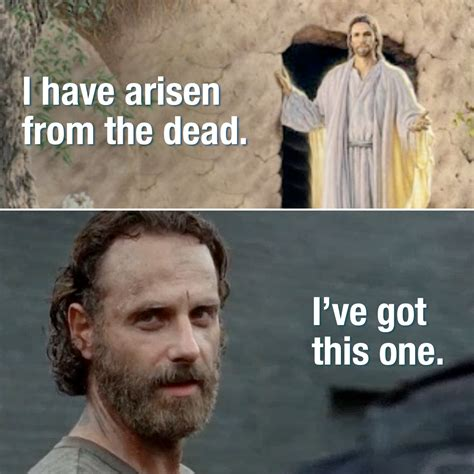 Zombie Jesus Meme - happy zombie jesus day happyeaster rickgrimes