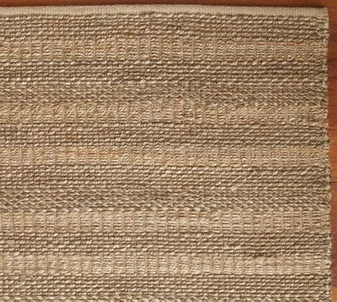 twill stripe jute rug pottery barn