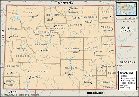 wyoming map state and county maps of wyoming