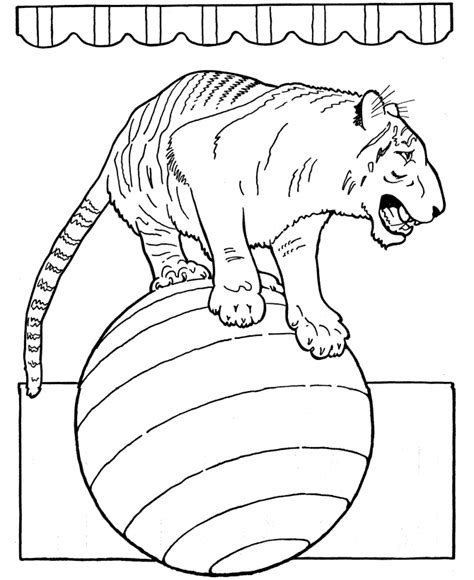 coloring pages of circus animals circus coloring page coloring home