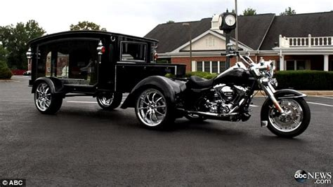 virginia funeral home unveils harley davidson hearse