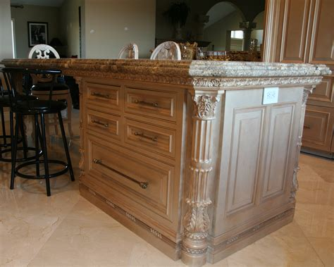 Ornate Kitchen Cabinets | island cabinet lantz custom woodworking