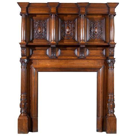 Antique Oak Fireplace Mantel by Edwardian Antique Oak Fireplace And Overmantel In The