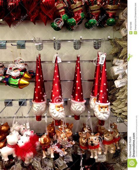 christmas items o sale editorial stock image image 47621989