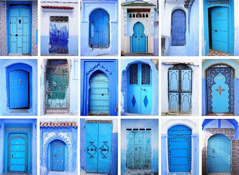 you to see this mesmerizing town in morocco covered in blue paint