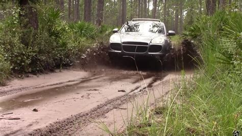 off road porsche watch a porsche cayenne turbo go off roading