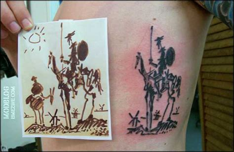 don quixote tattoo 15 don quixote tattoos tattooblend