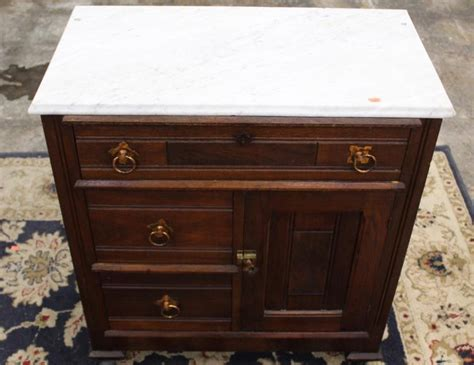 Antique Marble Top Nightstand by Antique Marble Top Stand