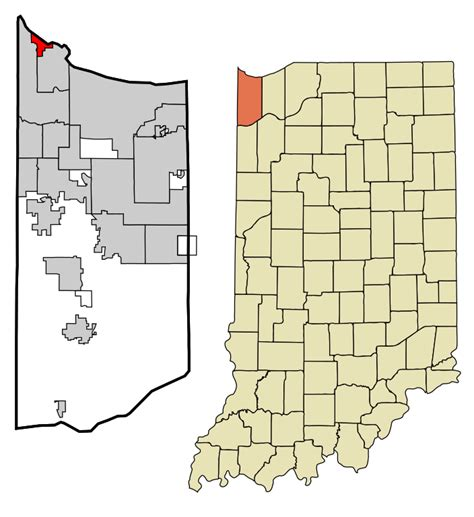Lake County Indiana Search File Lake County Indiana Incorporated And Unincorporated Areas Whiting Highlighted Svg