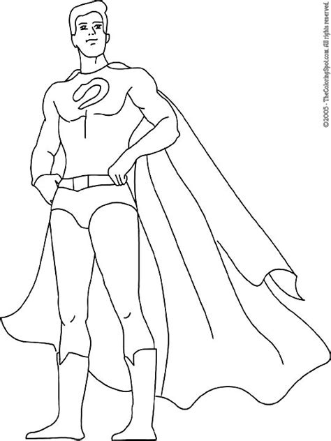 superhero coloring pages nick jr male superhero blank use for superhero party partay
