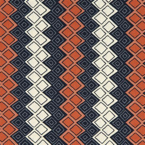 Blue And Orange Upholstery Fabric Navy Blue Orange Upholstery Fabric Heavyweight Woven Blue