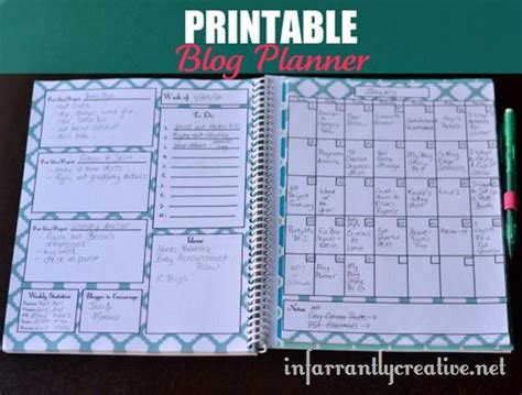 printable calendar blog 20 free printable blog planners lesson plan templates