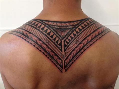 tribal back piece tattoos back by fred savage origins nz
