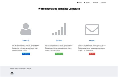 bootstrap templates for quiz free bootstrap template corporate download sourceforge net