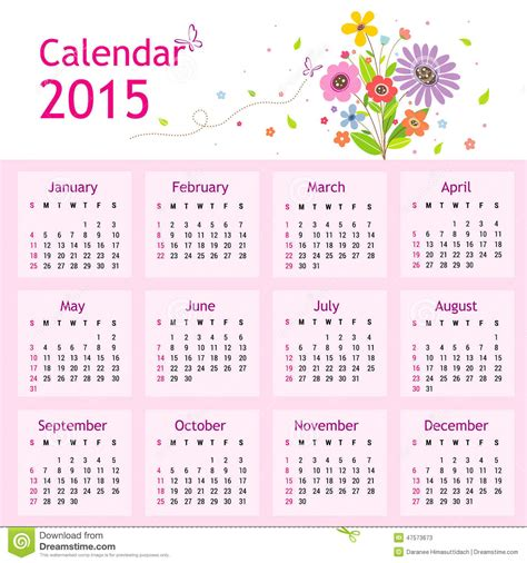 new year 2015 in calendar happy new year calendar 2015 vector stock vector image