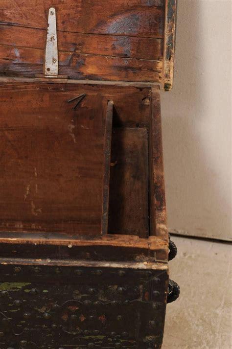 late  century spanish baroque nailhead coffer wood