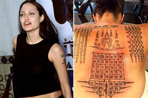 angelina jolie geography tattoo list of all angelina jolie tattoos and their meanings