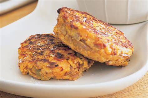 recipe for tuna patties with potato tuna sweet potato cakes recipe taste au