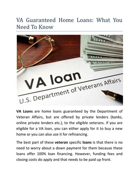 ppt va guaranteed home loans what you need to