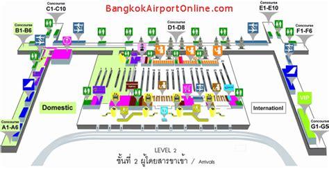 Airport Floor Plan Design by Terminal Map Level 2 Arrivals Suvarnabhumi Airport