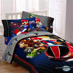 super mario brothers mario kart wii 174 comforter set bed