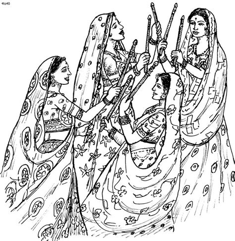 coloring page of india 15 best classical dances of india images on pinterest