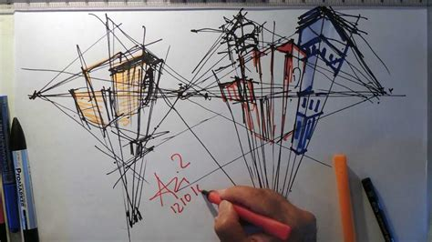 learn architectural sketching fast sketch three point perspective