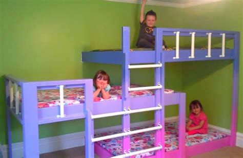 bunk beds with 3 beds bunk beds for three kids room pinterest bunk bed