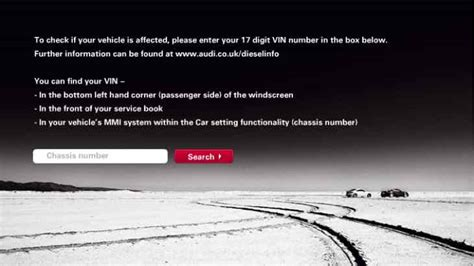 Audi Recall Vin by Search Audi Vw Models By Vin For Emissions Recall