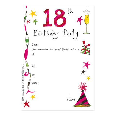 layout for invitation to birthday 18th birthday party invitations theruntime com