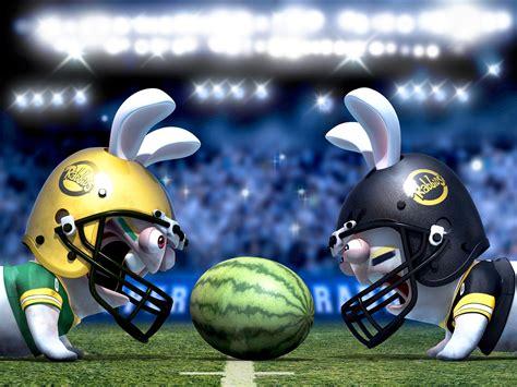 rabbits cartoon rave football helmets