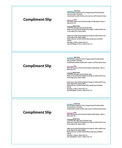 compliment slip template 8 compliment slip templates sle templates