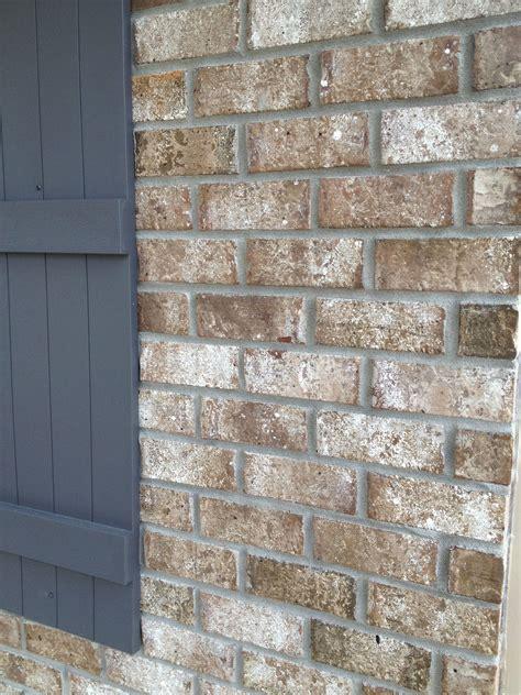 stone chase brick gray mortar brick exterior house