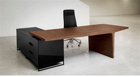 Modern Desk Furniture Fabulous Simple And Unique Office Desk And Cabinet Combined Wood And Black Stainless Also