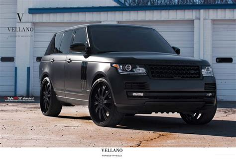 black land rover with black rims range rover 22 inch rims matte black all black