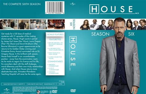 house season 6 house season 6 dvd tv dvd custom covers house season 6 dvd covers