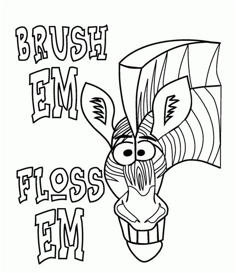 tooth coloring pages brush teeth coloring page coloring home
