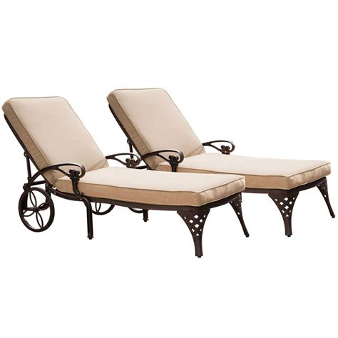 taupe chaise lounge home styles biscayne bronze patio chaise lounge with taupe